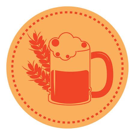 beer mug with grains
