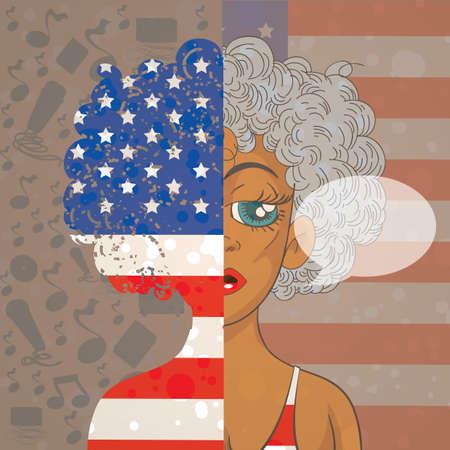 Amerikaans meisje met tekstballon