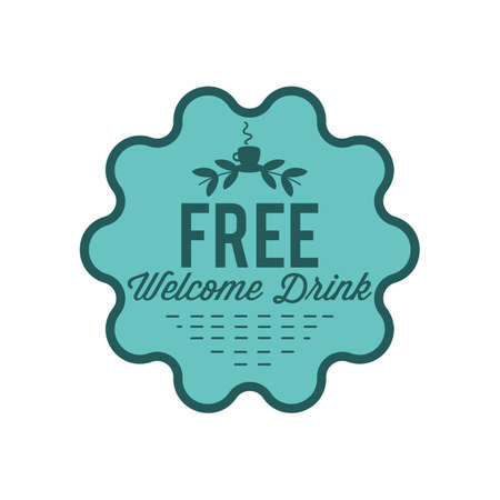 free welcome drink label