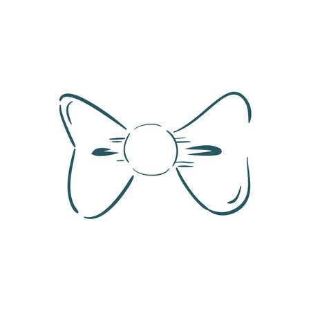 蝶ネクタイイラスト。  イラスト・ベクター素材