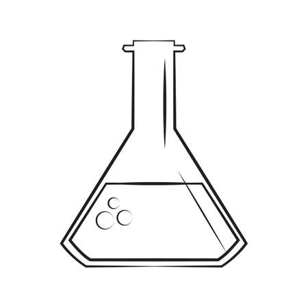 A wine beaker illustration. Illustration