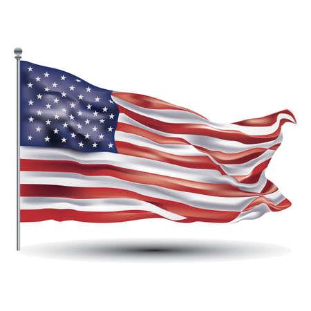 amerikanische Flagge Vektorgrafik