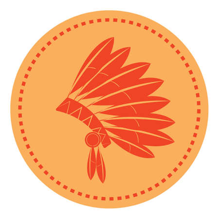 native american indian headdress Illustration