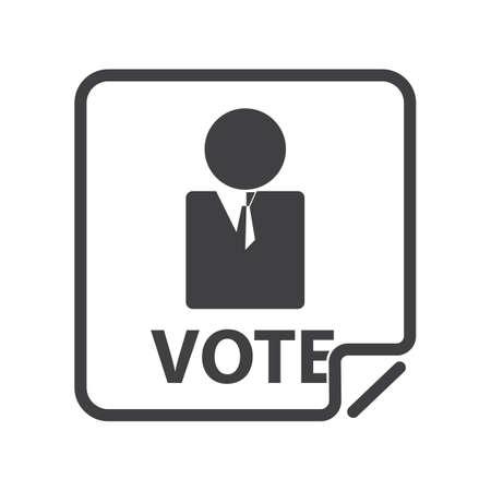 election candidate Illustration