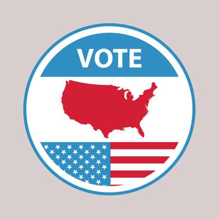 미국 투표 라벨 스톡 콘텐츠 - 81537911