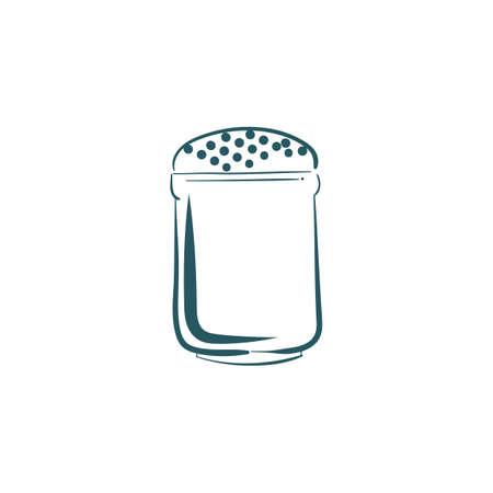 salt shaker: A salt shaker illustration.