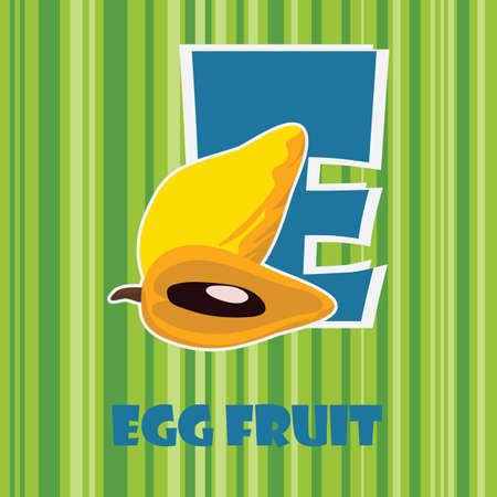 e for egg fruit