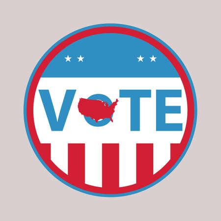 米国投票ラベル