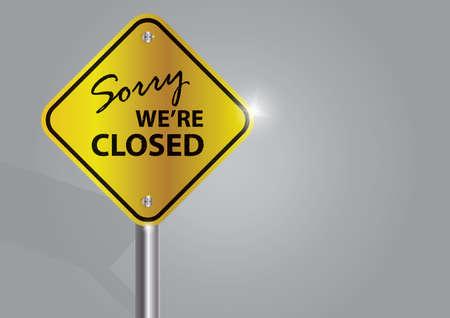 sorry we zijn gesloten uithangbord Vector Illustratie