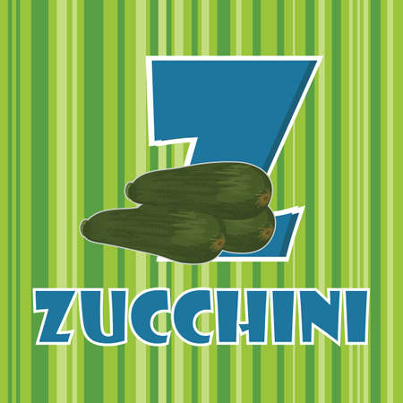 z for zucchini Vectores