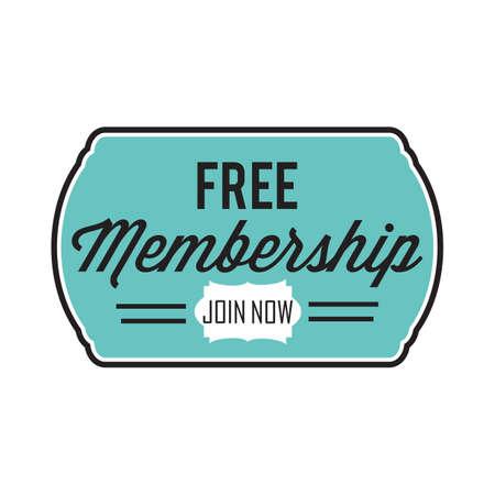 free membership button Ilustrace