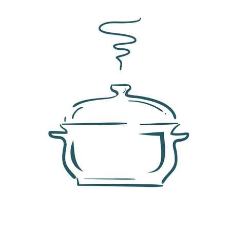A hot pot illustration.