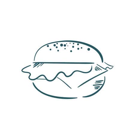 ハンバーガーのイラスト。