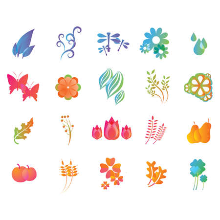 set of nature icons Ilustracja