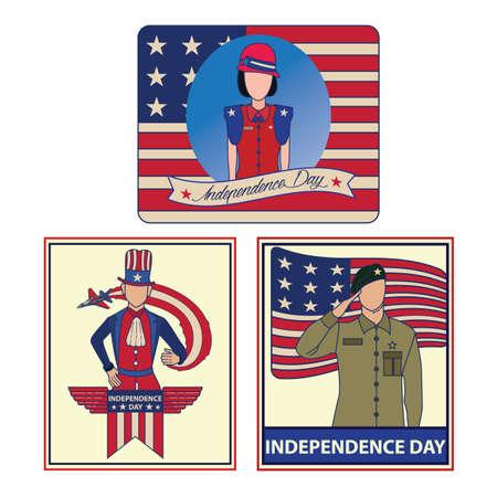 독립 기념일 포스터 일러스트