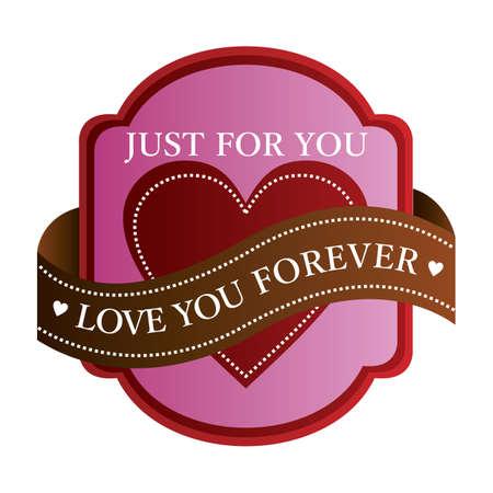 Liebe dich für immer Etikett