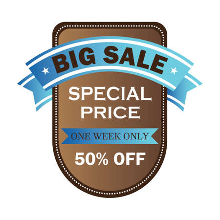 big sale label Ilustrace