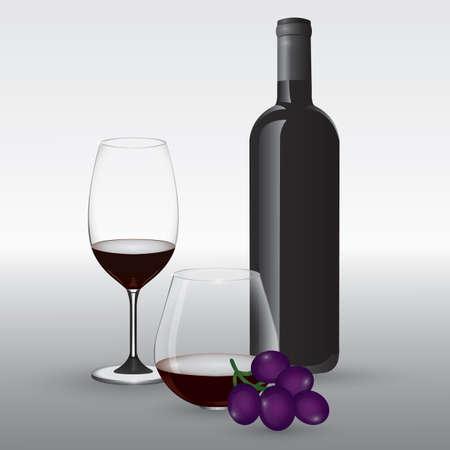 wine collection Illusztráció