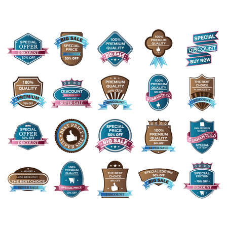 labels collection Stock Illustratie