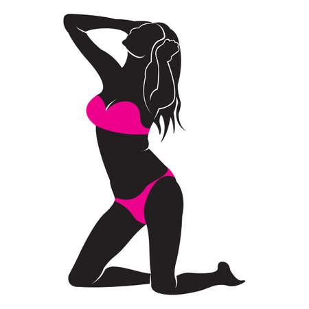 woman in bikini Ilustração