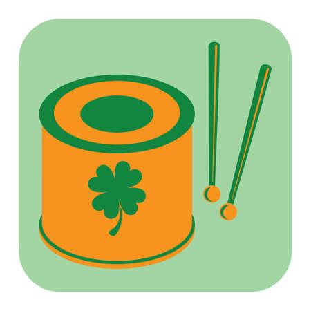 snare drum with drumsticks Illustration