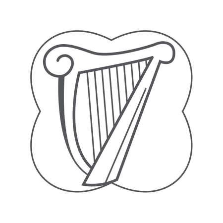 harp Stock Vector - 106672419