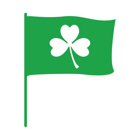 clover leaf on flag