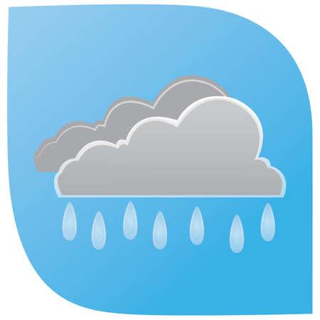 雲は雨  イラスト・ベクター素材