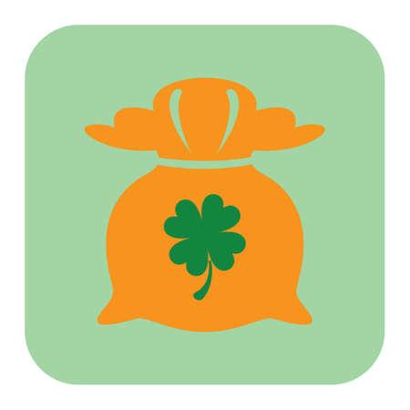 saint patrick festival coin bag Reklamní fotografie - 81535962