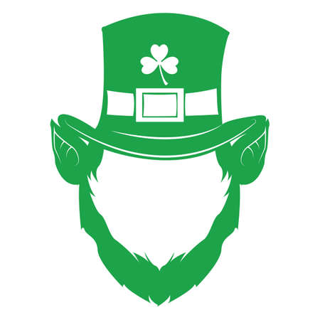 leprechaun face with hat and beard