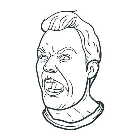怒っている人の叫び式