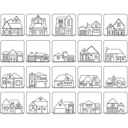 set van huis iconen