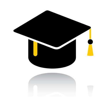 Graduazione cappello Archivio Fotografico - 81535978