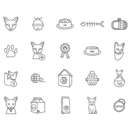 Ensemble d'icônes de chat Banque d'images - 81537922