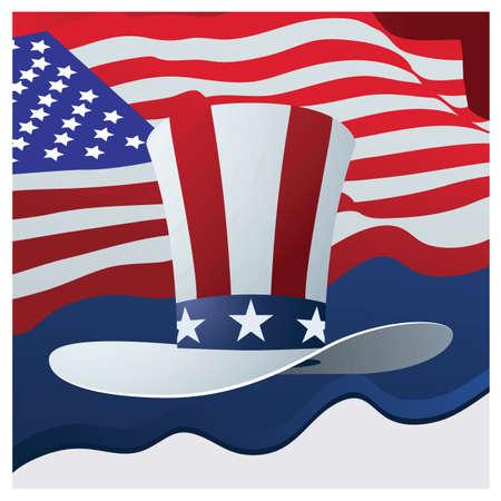 american flag Illusztráció