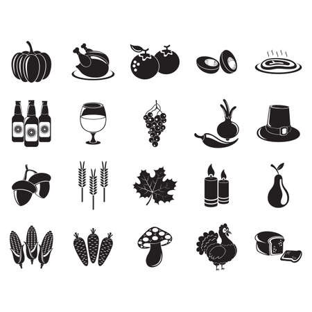thanksgiving icon set Foto de archivo - 106672502