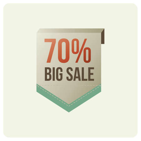 70 percent big sale badge