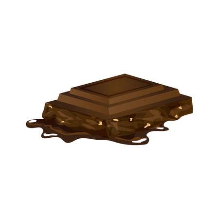 Barretta di cioccolato Vettoriali