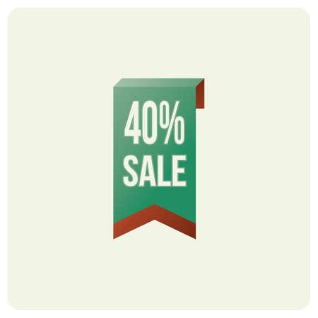 40 percent sale badge Иллюстрация