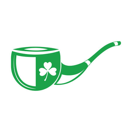 tobacco pipe with clover leaf