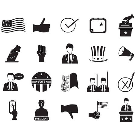 set of election icons 向量圖像