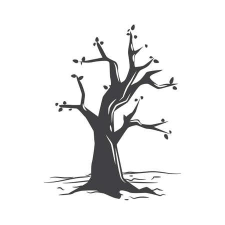 almost bare tree Stock Illustratie