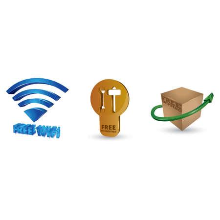 free services collection Zdjęcie Seryjne - 106672541