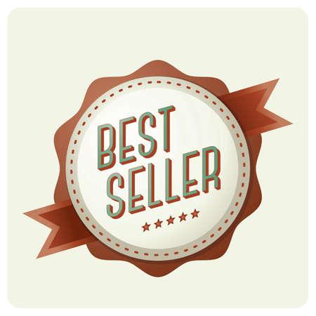 bestseller-badge Stock Illustratie