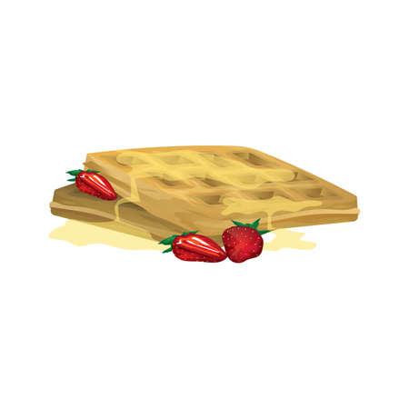 belgian waffle 写真素材 - 106672560
