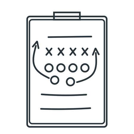 ゲームの戦略とクリップボード  イラスト・ベクター素材