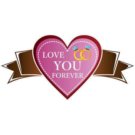 liebe dich für immer beschriften