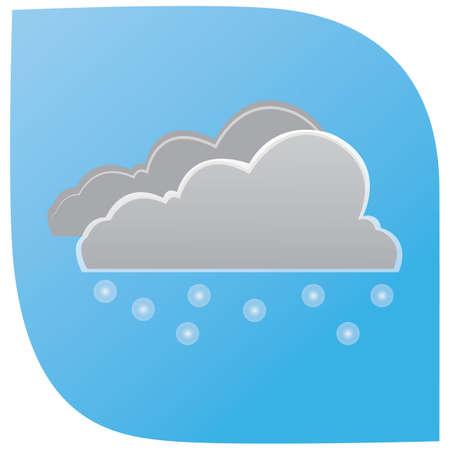 sneeuwvlokken en wolken