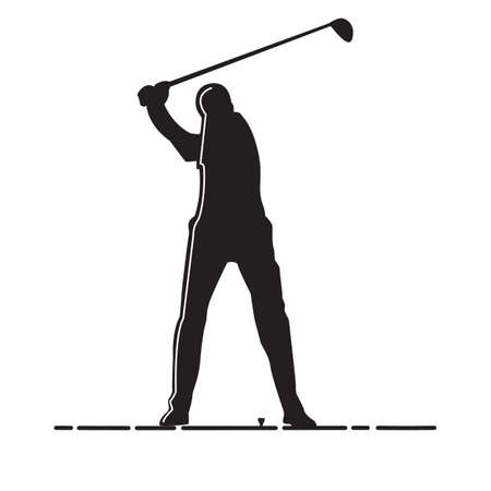 남자 골프의 실루엣