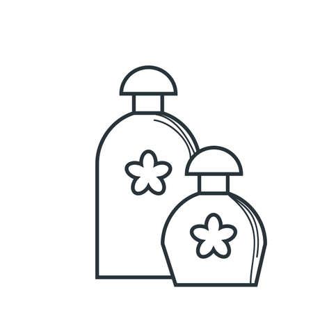 spa aroma oil bottle Illusztráció